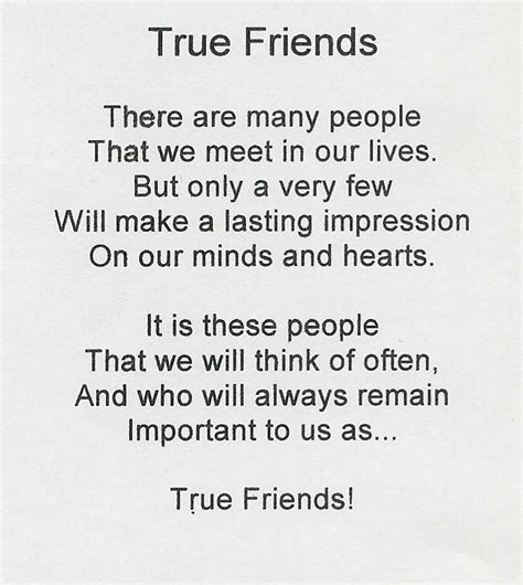 true friend poems true friendship quotes and poems quotesgram
