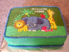 jungle baby shower sheet cake cakecentral com