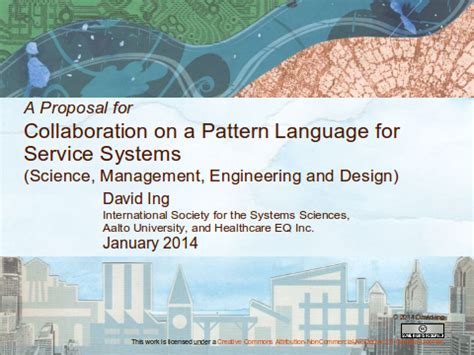 design collaboration proposal a proposal for collaboration on a pattern language for