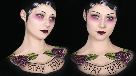 tattoo full body makeup old school tattoo makeup body paint tutorial youtube