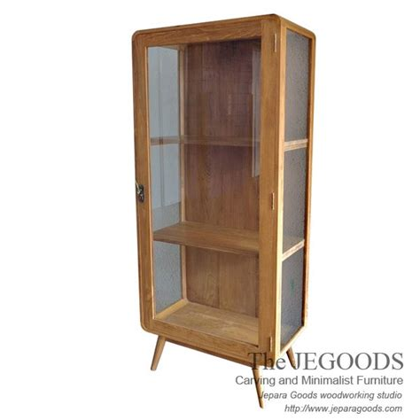 Lemari Cabinet Kayu 187 Retro Display Cabinet Scandinavia Vintage Jepara Mebel Retro Furniture