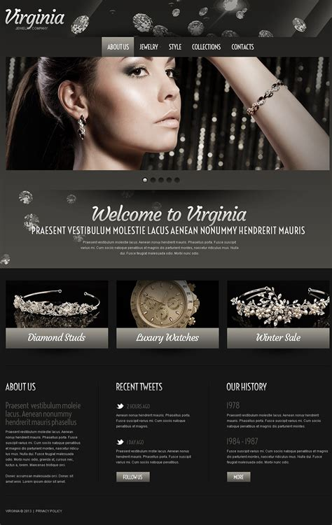 jewelry website template 43100