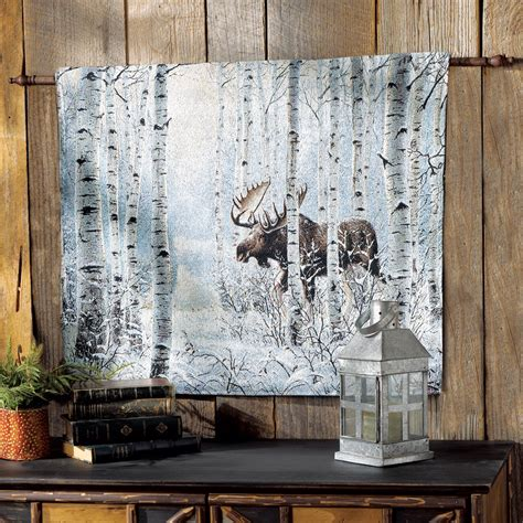 how to hang a picture on the wall moose on the move tapestry wall hanging