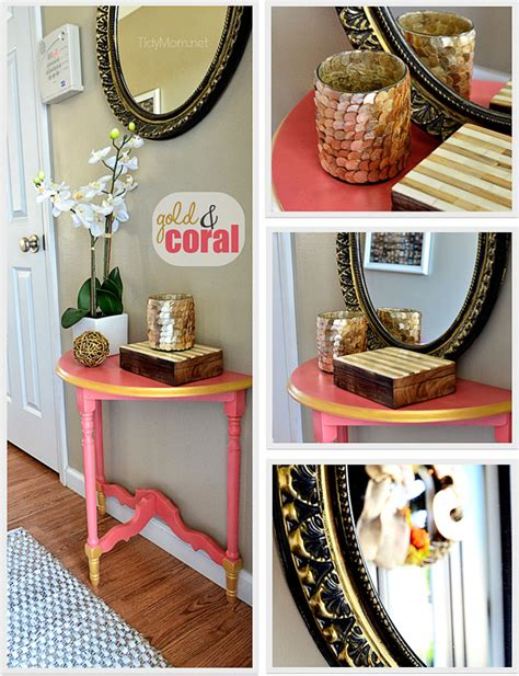 Diy Frame For Mirror by Diy Gold Coral Table