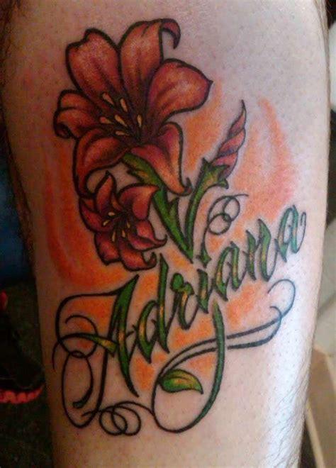 fiori e nomi di persona tatuaggi con nomi foto bellezza pourfemme