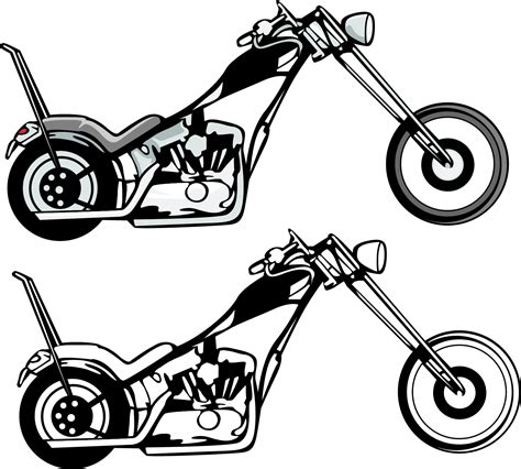 Motorrad Chopper Arten by And Black White Motorcycle Clipart Clipart Suggest