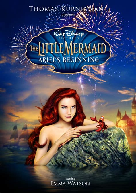 la petite sirene film emma watson thomas kurniawan s portfolio the little mermaid poster