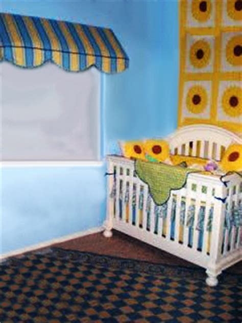 Sunflower Crib Bedding by Yellow And Blue Baby Bedding And A Vintage Sunflower Quilt