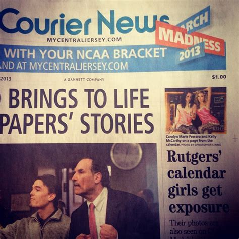ccg models on the cover of courier news and home news