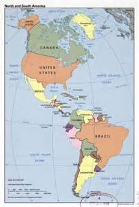 large detailed political map of south america south