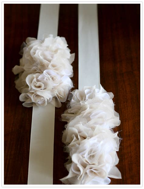 diy flower belt diy flower ruffle belts diy project wedding forums