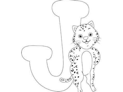 free coloring pages letter j free printable letter j jaguar coloring pages for kids