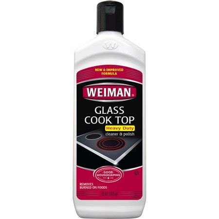glass ceramic cooktop cleaner weiman glass cook top cleaner 15 oz walmart