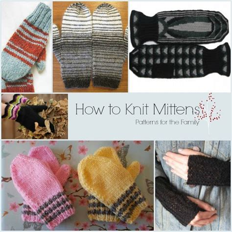 how to loom knit baby mittens how to knit mittens 35 patterns for the family