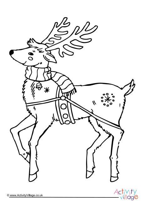 reindeer template activity village reindeer colouring page 5