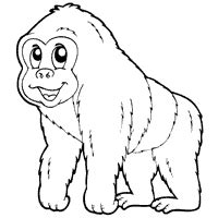 gorilla outline coloring page silverback gorilla 187 coloring pages 187 surfnetkids