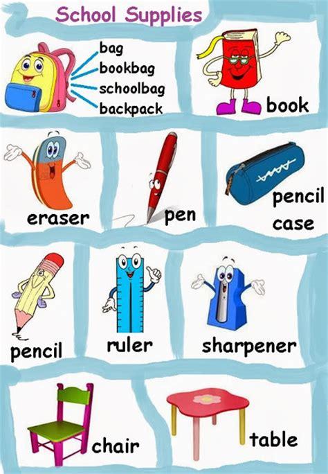 imagenes de utiles escolares en ingles para imprimir guia de utiles escolares en ingl 233 s imagui