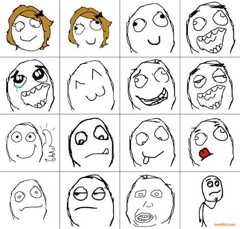 Meme Faces - free rage face templates lol needed