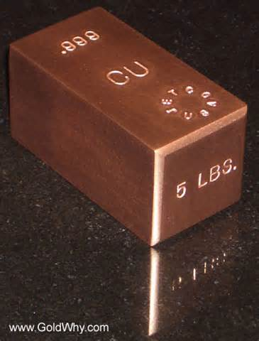 Copper Bar Pictures Of My 5 Pound Copper Bullion Bar From Jetco Metals