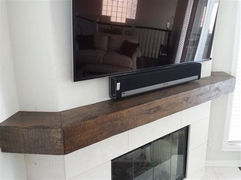 17 Best Images About Distressed Floating Beam Mantel Distressed Fireplace Mantel