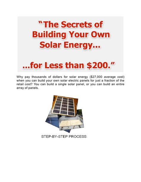 how to install your own solar panels build your own solar electric panels