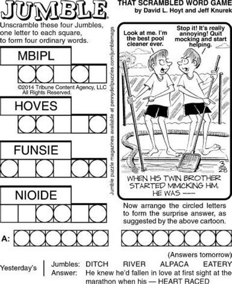 printable jumble games 20 best jumble images on pinterest crossword crossword