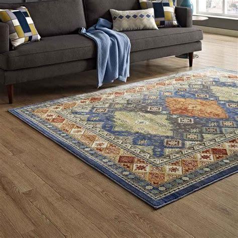 atzi distressed southwestern diamond floral  area rug