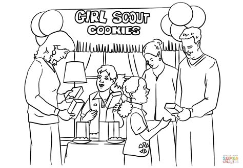 scout cookie coloring pages scout cookie coloring activities coloring pages