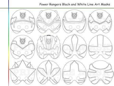 printable power ranger mask template coloring pages rangers party printable by holidaypartystar