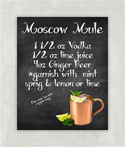 Amazon.com: Moscow Mule Recipe Art Print 8x10 ((unframed ...