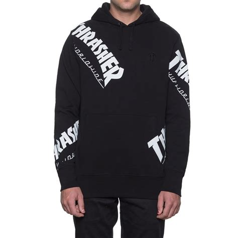 Sweater Hoodie Thrasher X Huf Premium huf x thrasher tour de stoops all hoodie black