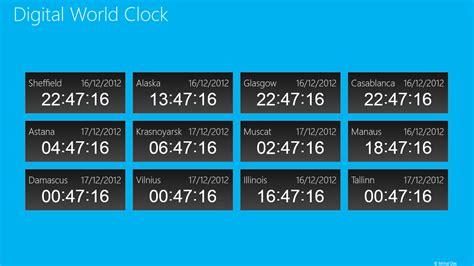 digital world clock  windows