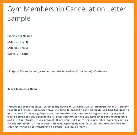 cancellation format writing 8 writing a letter to cancel membership agenda exle