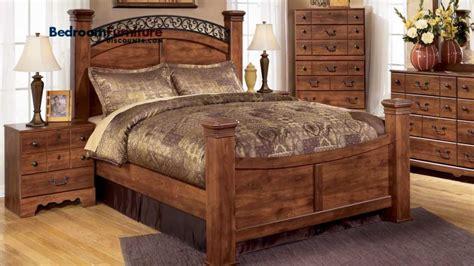 4 post bedroom set ashley timberline 4 piece poster bedroom set in cherry