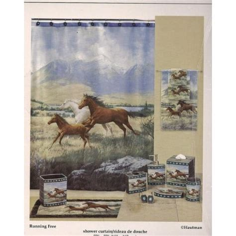 For Horses Bathroom by New Running Free Horses Hautman Shower Curtain Free