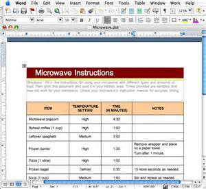 table template word macdevcenter