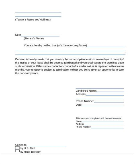 lease termination letter sle by landlord 37 sle termination letters