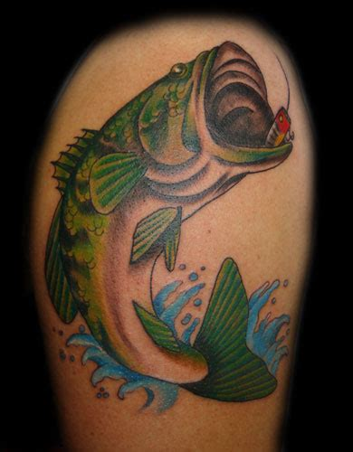 largemouth bass tattoo fashion and bass
