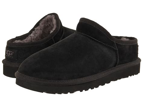 ugg slipper shoes ugg classic slipper black suede zappos free shipping