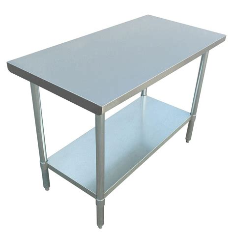 Stainless Steel Kitchen Table by Excalibur Stainless Steel Kitchen Utility Table