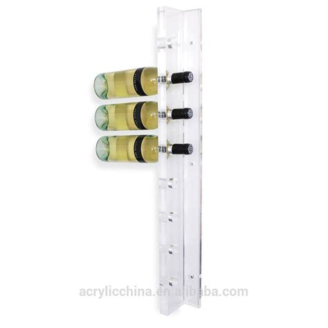 wall mounted wine bottle holder decorative wall mounted wine bottle holder clear acrylic