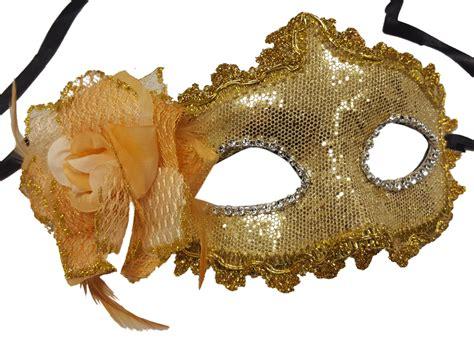 Masker Gold glitter half mask partynutters uk