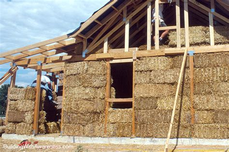 construction of a house the pros and cons of straw bale wall construction
