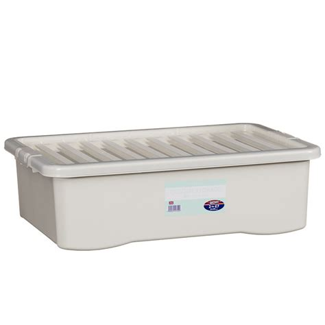 Colour Underbed Box underbed storage box with lid 32l home storage b m