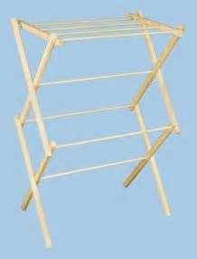 earth friendly wooden clothes drying racks