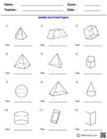 worksheet on volume and surface area of a pyramid word