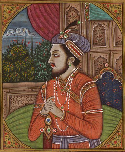 Handmade Portraits - mughal miniature jahangir nur jahan handmade