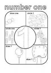 English worksheet number one 1
