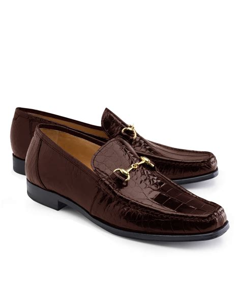 alligator loafers brothers genuine american alligator classic bit