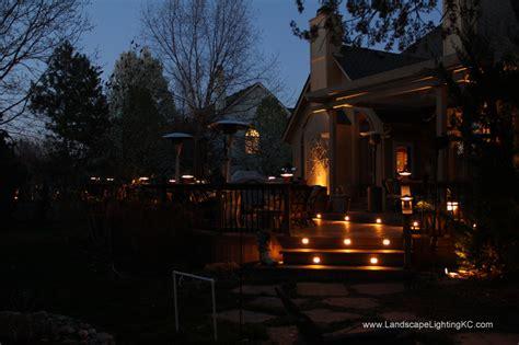 deck lighting kansas city overland park landscape lights deck lights landscape